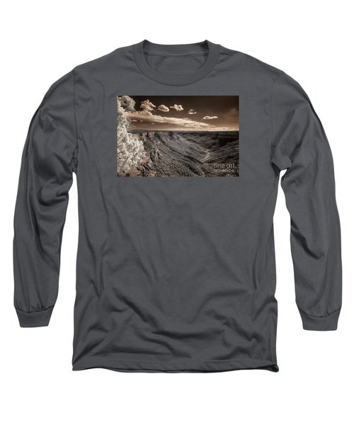 The Sky Tilts Down To The Canyon Long Sleeve T-Shirt by William Fields