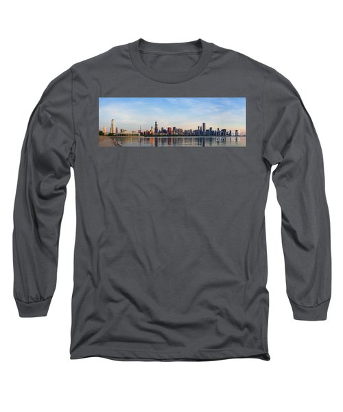 The Skyline Of Chicago At Sunrise Long Sleeve T-Shirt