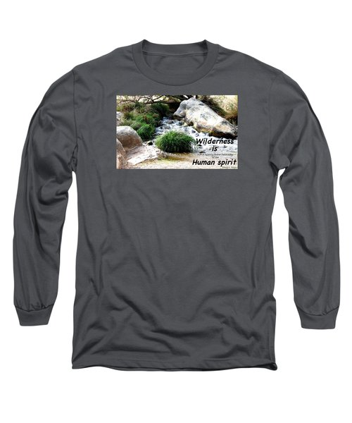 The Spirit Of Water Long Sleeve T-Shirt by David Norman