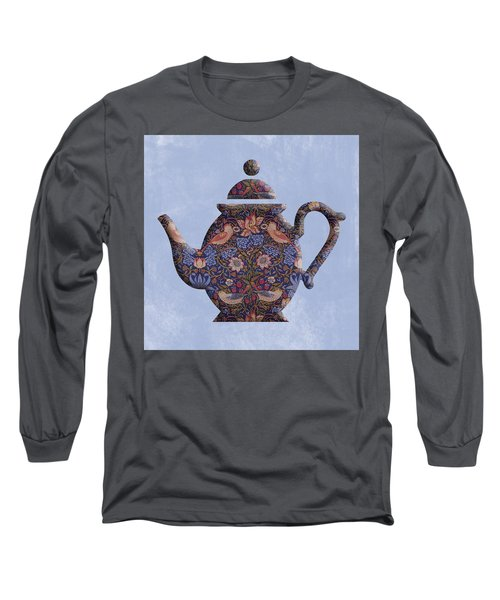 The Strawberry Thief Pattern Teapot Long Sleeve T-Shirt