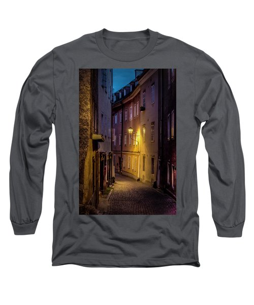 Long Sleeve T-Shirt featuring the photograph The Streets Of Salzburg by David Morefield