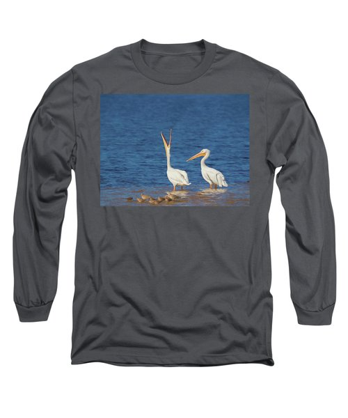 Long Sleeve T-Shirt featuring the photograph The Stretch by Kim Hojnacki