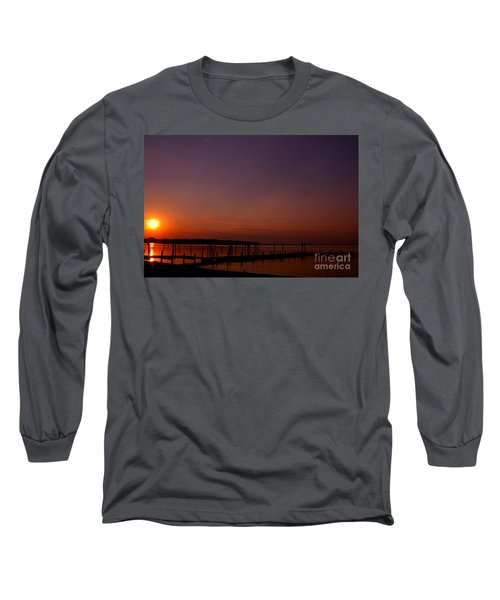 The Sun Sets Over The Water Long Sleeve T-Shirt