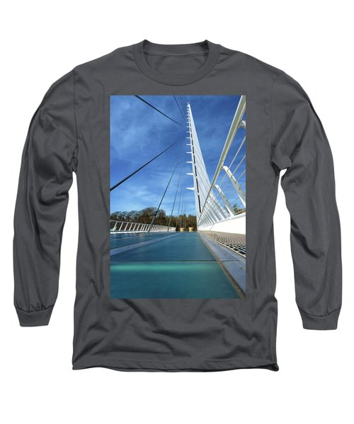 Long Sleeve T-Shirt featuring the photograph The Sundial Bridge by James Eddy