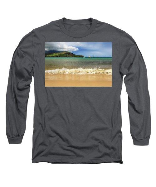 The Surf At Hanalei Bay Long Sleeve T-Shirt