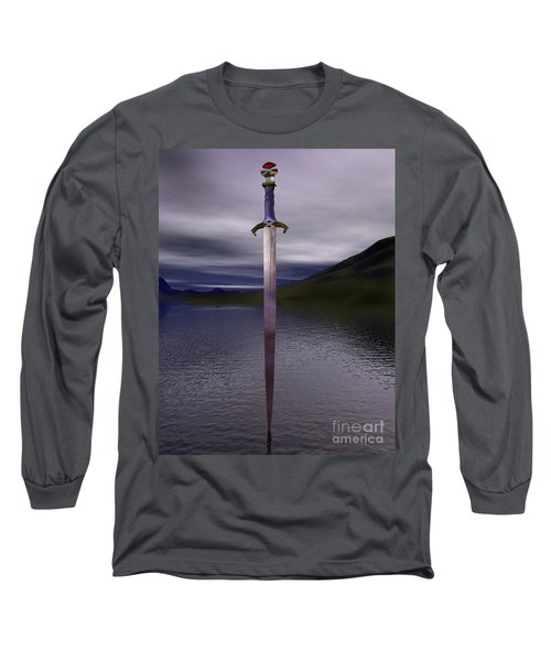 The Sword Excalibur On The Lake Long Sleeve T-Shirt