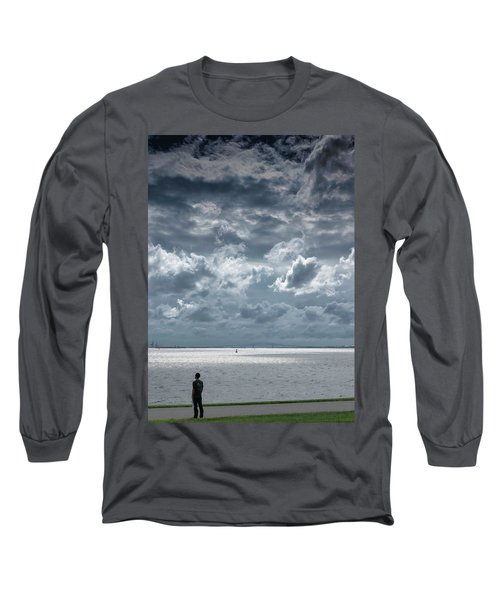 Long Sleeve T-Shirt featuring the photograph The Threatening Storm by Steven Richman