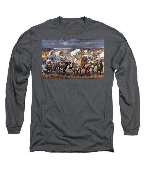 The Trail Of Tears Long Sleeve T-Shirt by Granger