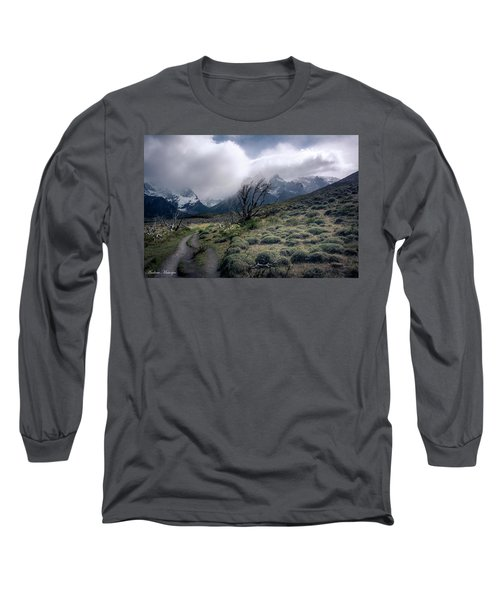 Long Sleeve T-Shirt featuring the photograph The Tree In The Wind by Andrew Matwijec