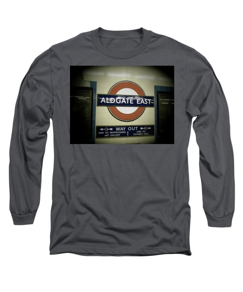 Long Sleeve T-Shirt featuring the photograph The Tube Aldgate East by Christin Brodie