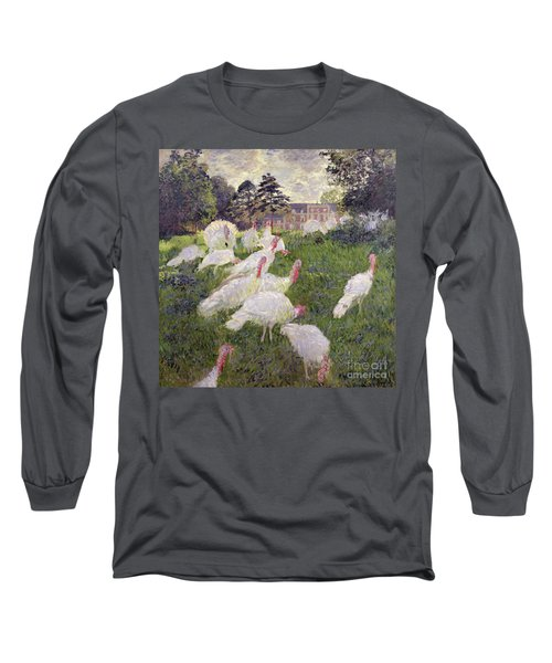 The Turkeys At The Chateau De Rottembourg Long Sleeve T-Shirt