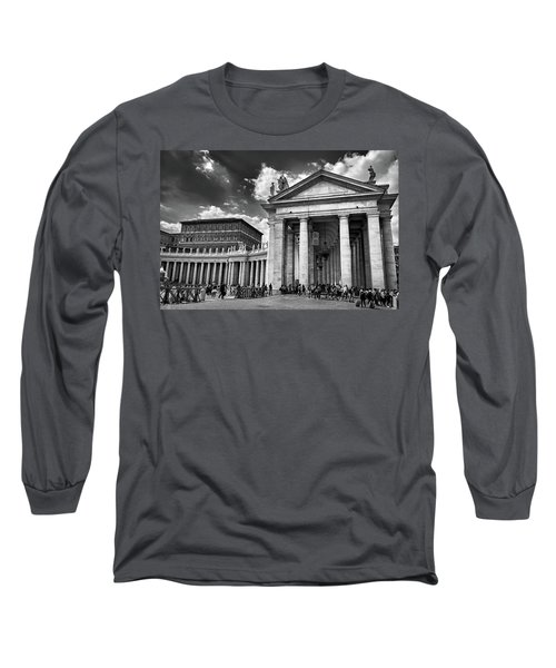 The Tuscan Colonnades In The Vatican Long Sleeve T-Shirt