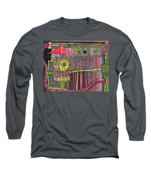The Umbrella Roof Long Sleeve T-Shirt by Sandra Church
