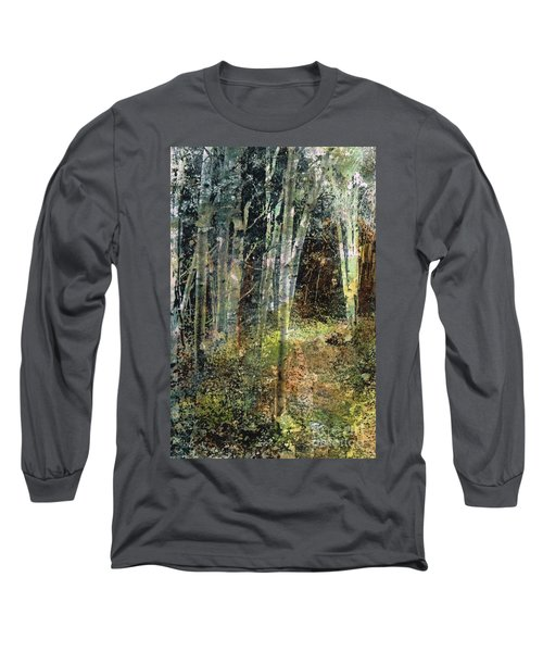 Long Sleeve T-Shirt featuring the painting The Underbrush by Frances Marino