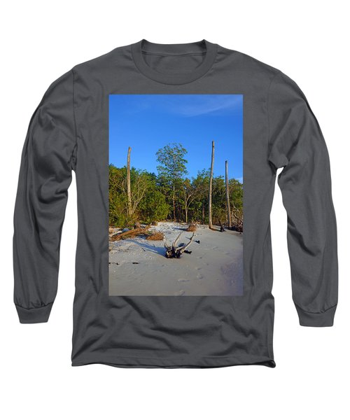 The Unspoiled Beauty Of Barefoot Beach In Naples - Portrait Long Sleeve T-Shirt