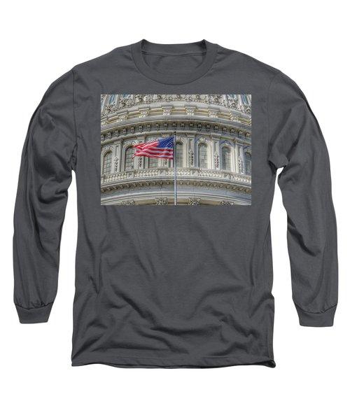 The Us Capitol Building - Washington D.c. Long Sleeve T-Shirt