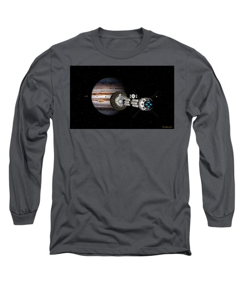The Uss Savannah Nearing Jupiter Long Sleeve T-Shirt