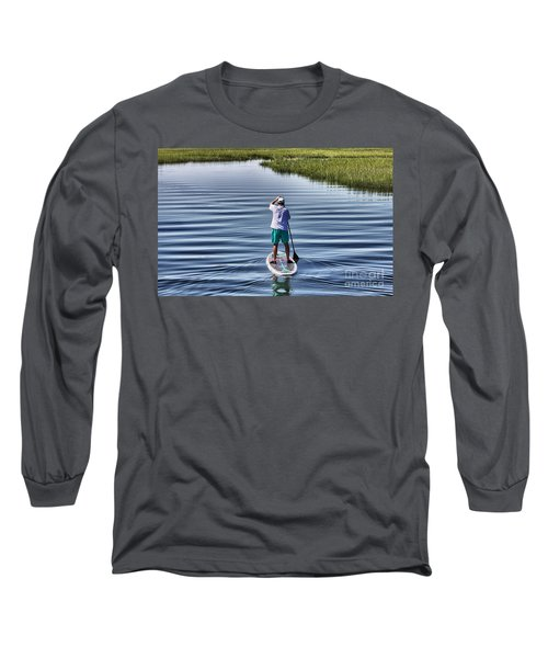 The View From A Bridge Long Sleeve T-Shirt by Phil Mancuso