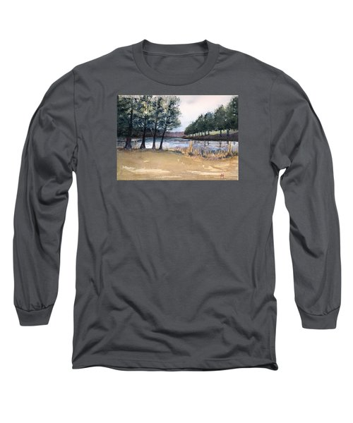 Long Sleeve T-Shirt featuring the painting The View From Switchboard by Katherine Miller
