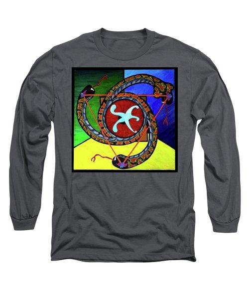 The Vitruvian Serpent Long Sleeve T-Shirt