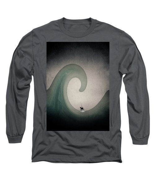 Long Sleeve T-Shirt featuring the digital art The Voyage Of The James Caird. by Andy Walsh