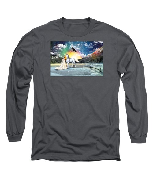 The Waiting Bride Long Sleeve T-Shirt by Dolores Develde
