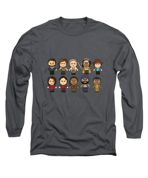 The Walking Dead - Main Characters Chibi - Amc Walking Dead - Manga Dead Long Sleeve T-Shirt