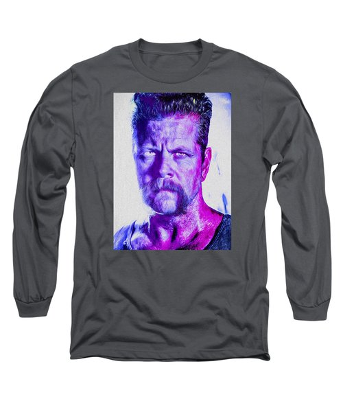 The Walking Dead Michael Cudlitz Sgt. Abraham Ford Painted Long Sleeve T-Shirt by David Haskett