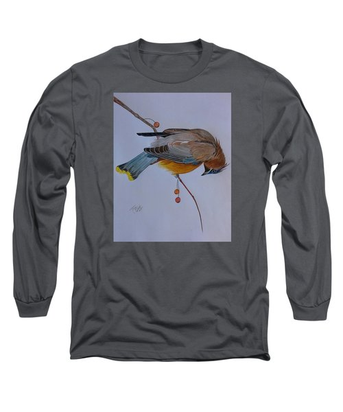 The Waxwing  Long Sleeve T-Shirt by Tony Clark