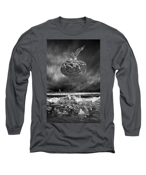 Long Sleeve T-Shirt featuring the photograph The Weight Is Lifted by Randall Nyhof