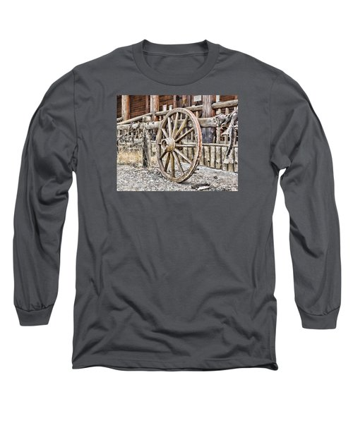 Long Sleeve T-Shirt featuring the photograph The Wheel Rolls On by B Wayne Mullins