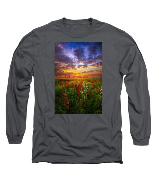 The Whispered Voice Within Long Sleeve T-Shirt by Phil Koch