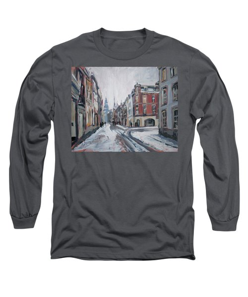 The White Grand Canal Street Maastricht Long Sleeve T-Shirt by Nop Briex