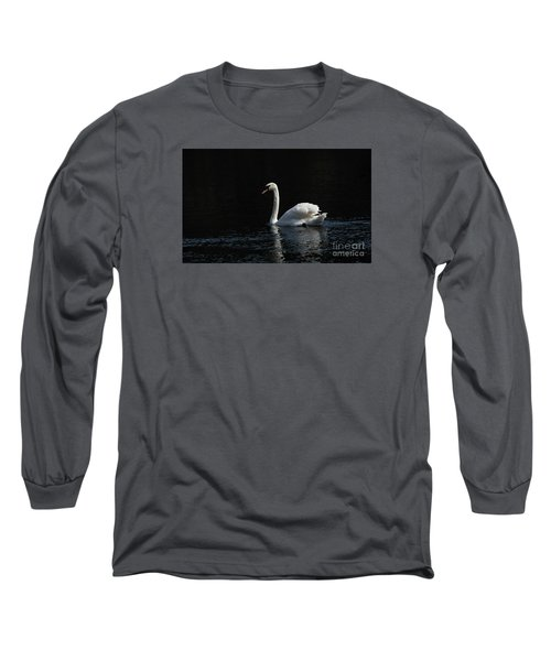 The White Swan Long Sleeve T-Shirt by David  Hollingworth