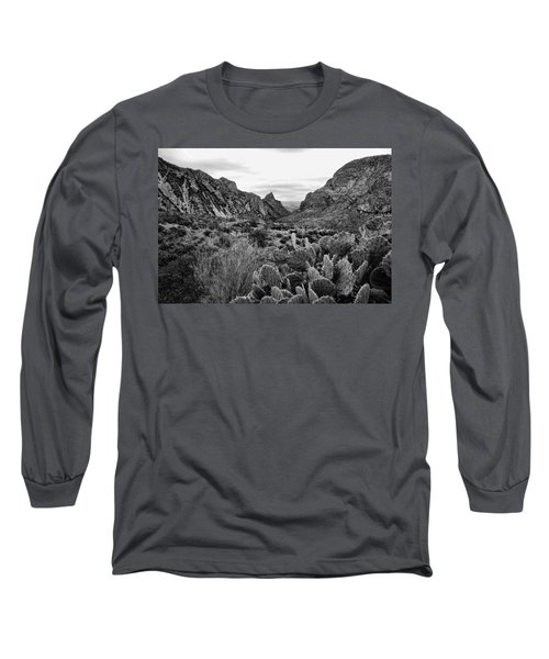 The Window 2 Black And White Long Sleeve T-Shirt