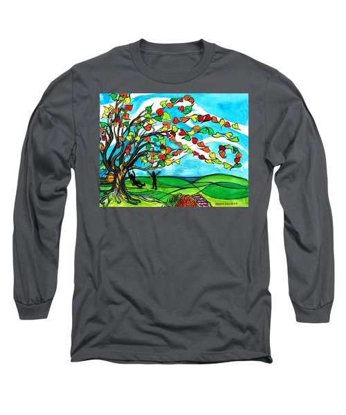 The Windy Tree Long Sleeve T-Shirt by Genevieve Esson