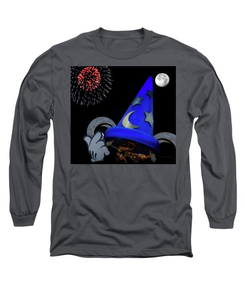 The Wizard Walt Disney World Mp Long Sleeve T-Shirt by Thomas Woolworth