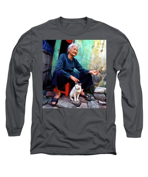 The Woman And The Cat Long Sleeve T-Shirt