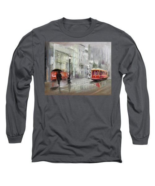 The Woman In The Rain Long Sleeve T-Shirt