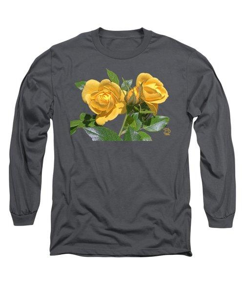 The Yellow Rose Family Long Sleeve T-Shirt by Daniel Hebard