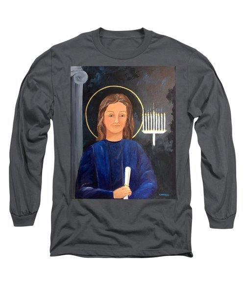 Long Sleeve T-Shirt featuring the painting The Young Teacher by Ellen Canfield