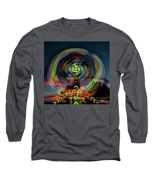 The Zipper Motion Art By Kaylyn Franks Long Sleeve T-Shirt