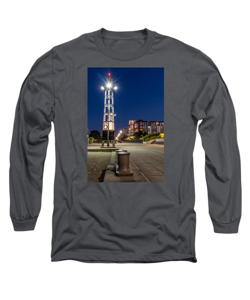 Long Sleeve T-Shirt featuring the photograph Thea's Landing Boardway During Blue Hour by Rob Green
