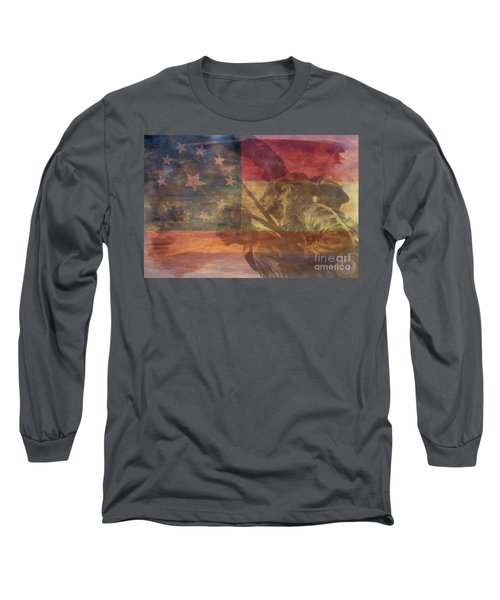 Their Final Charge At Gettysburg Long Sleeve T-Shirt