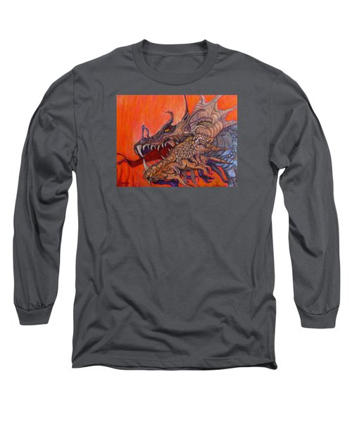 There Once Were Dragons Long Sleeve T-Shirt by Barbara O'Toole