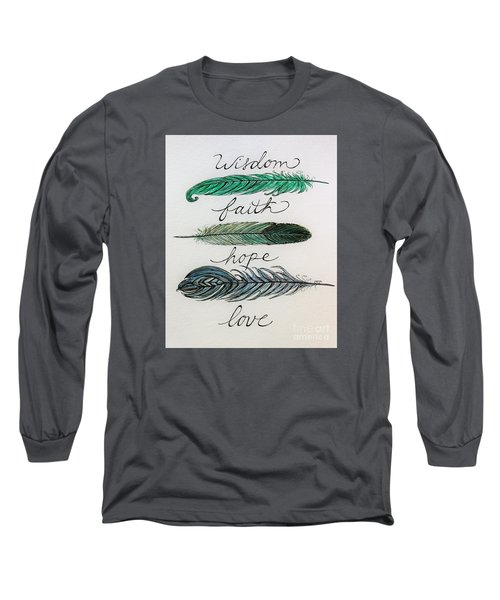 These Feathers Long Sleeve T-Shirt by Elizabeth Robinette Tyndall