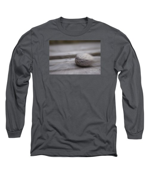 Simplicity In Grey Long Sleeve T-Shirt by Jill Smith