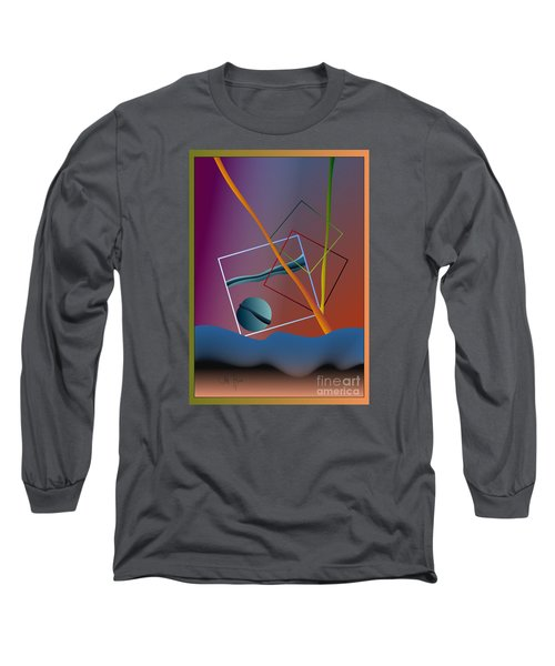 Long Sleeve T-Shirt featuring the digital art Thinking About The Future by Leo Symon