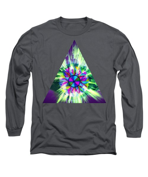 Long Sleeve T-Shirt featuring the mixed media Third Eye Opening by Rachel Hannah