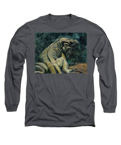 Long Sleeve T-Shirt featuring the painting This Is My Good Side by Billie Colson